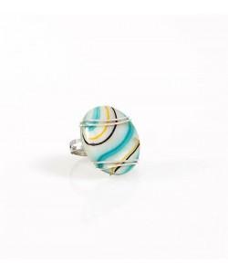 Χειροποίητο δακτυλίδι με πολύχρωμο Φίλντισι