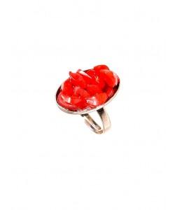 Δακτυλίδι με κόκκινο φίλντισι