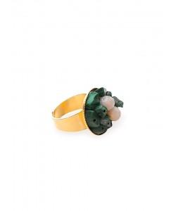 Δαχτυλίδι με ορυκτό μαλαχίτη