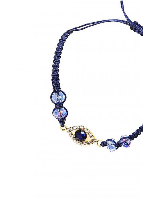 Βραχιόλι με ματάκι και γαλάζιες πέτρες